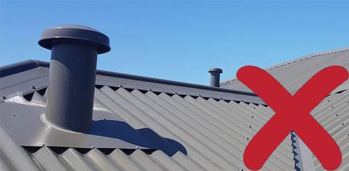 mushroom styled roof vents