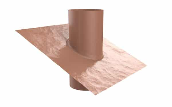 Tiled Roof Vent And Flume (Terracotta)