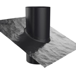 Tiled Roof Vent And Flume (Black)